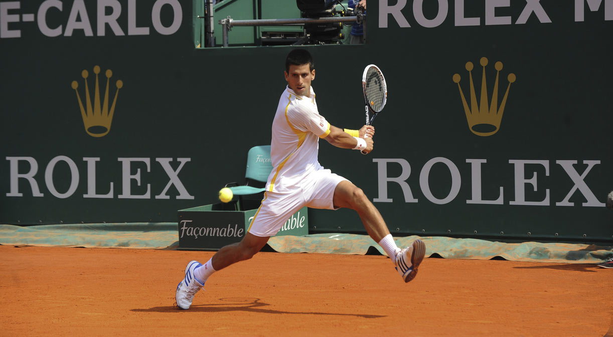 Novak Djokovic at Monaco Rolex Masters