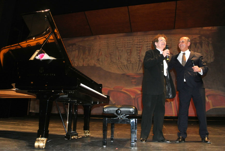 Vladimir Fédorovski and pianist Mikhail Rudy