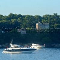 lerins abbey boat fireworks
