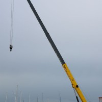 inauguration old port cannes crane