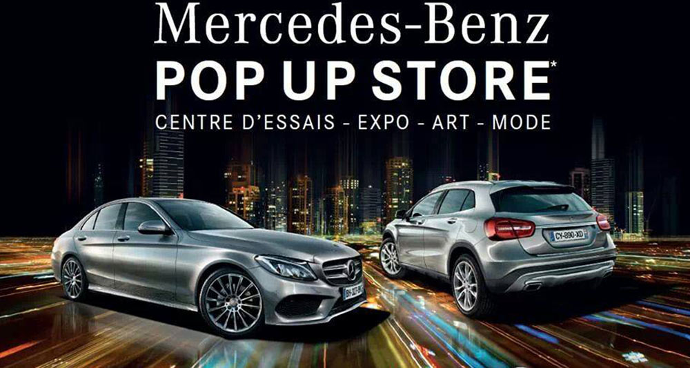 Mercedes benz pop up store in cannes for Garage mercedes cannes