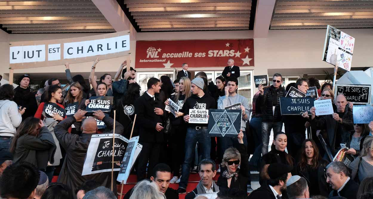 charlie hebdo march cannes