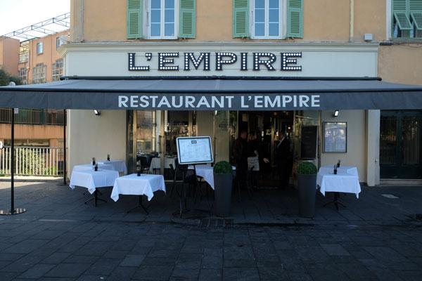 restaurant l'empire nice