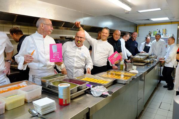 diners de chefs restos du coeur 2015