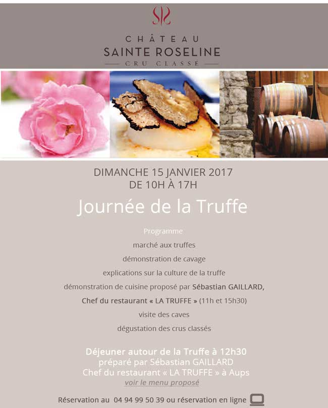 chateau-sainte roseline journee truffe 2017
