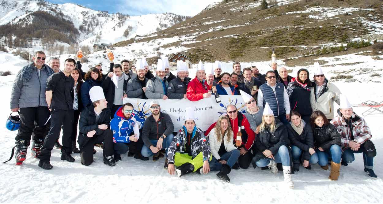 chefs au sommet auron 2018 partenaires