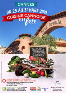 Cuisine Cannoise en  fête du 23 au 31 Mars 2019