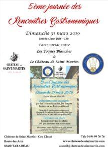5ème rencontres gastronomiques au Château de Saint Martin