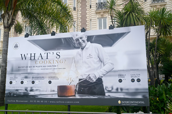whats cooking intercontinental carlton cannes