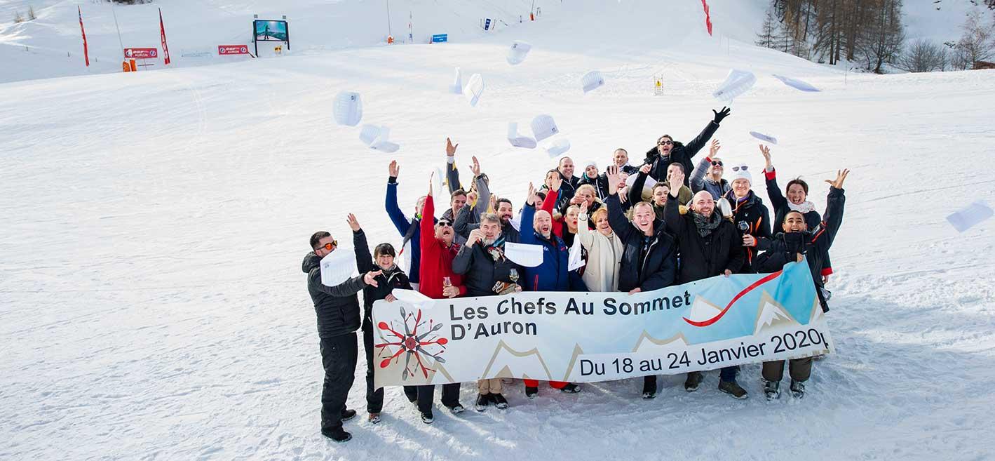 chefs au sommet auron 2020 partenaires