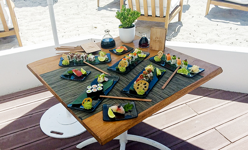 sushis plage majestic barriere
