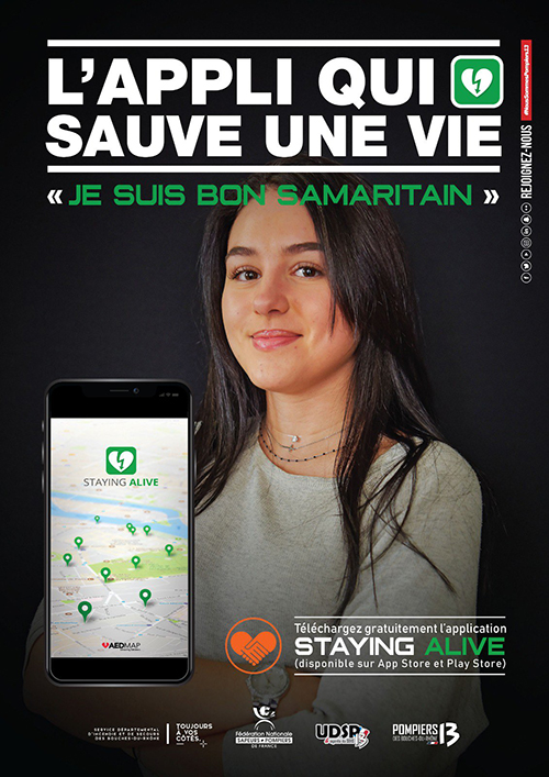 devenez bon samaritain application staying alive