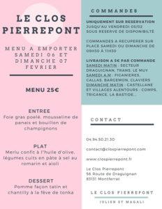 menu gastronomie clos pierre pont