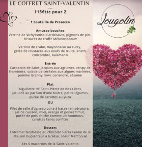 le lougolin menu saint valentin