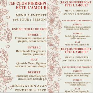Clos Pierrepont meun saint valentin
