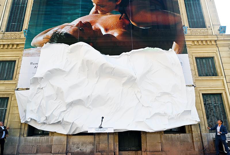 cannes mur romantisme sensualité